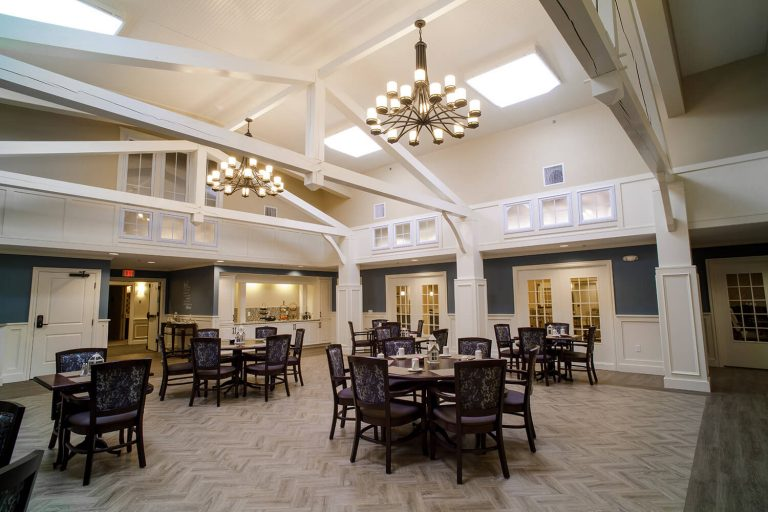 Piney-Court-At-Laurel-Run-Dining-Hall-Vaulted-Ceiling